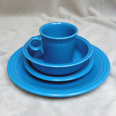 Homer Laughlin Fiesta 4 Piece Place Setting in Peacock (Retired)