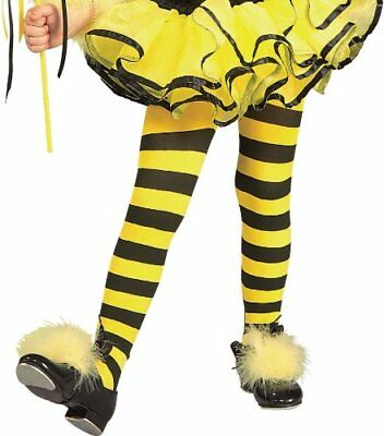 Girls Striped Tights Dance Costume Bumble Bee Witch Halloween Toddler Stocking