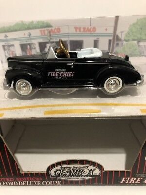 Gearbox Limited Edition Texaco Fire Chief Black 1940 Ford Deluxe Coupe Pedal Car