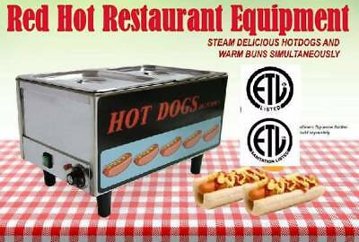 Fma Omcan 17133 Concession Hot Dog Steamer Cooker FW-TW-3050 Free Shipping