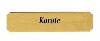 Karate name plate. Dutch Touch Creations. Brand New