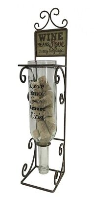Wine Means Love Decorative Metal Wine Bottle Cork Collector. Boston Warehouse