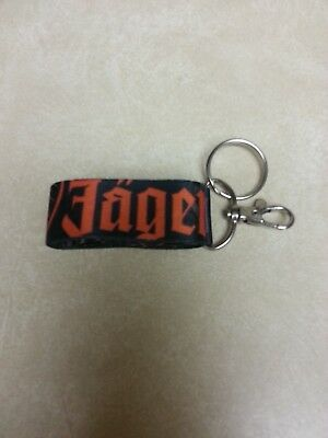 "Brand New Jagermeister Lanyard Keychain ID Badge Clip Key Ring Black 34"" around"
