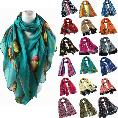 Fashion Women Print Long Soft Scarf Yarn Lady Wrap Shawl Stole Scarves Gifts
