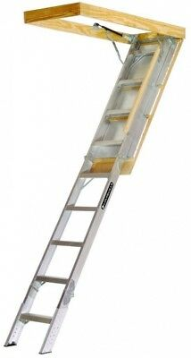 Louisville Ladder AA229GS Elite Aluminum Attic Ladder 350 Pound Capacity By To