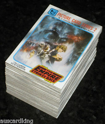 Star Wars - Empire Strikes Back (ESB) Series 2 - Complete Card Set (132) 1980 NM