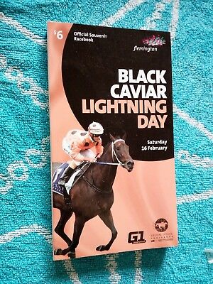 Black Caviar Lightning Day Race Book WINX/Black Caviar RaceBook Cox Plate