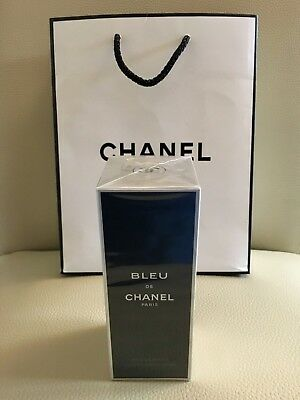 "CHANEL Men's Perfume "" BLUE DE CHANEL "" 100 Ml Deodorant Spray BNWT"