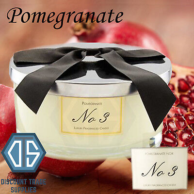Aldi No 3 Luxury Limited Edition Large Candle 3 Wick Pomegranate Noir 700g