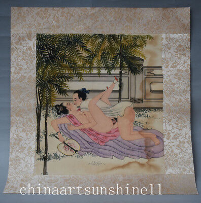 Rare China Art Painting Belle picture Old Paper Collectible