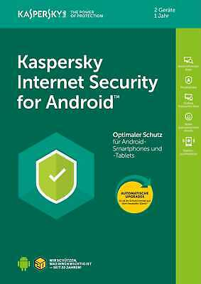 Kaspersky Internet Security für ANDROID Handy/Tablet Mobile 2-Geräte/1Jahr / KEY