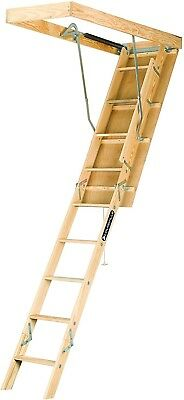 Louisville Ladder S254P 250-Pound Duty Rating Wooden Attic Ladder Fits 7-Foot
