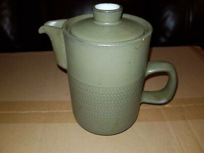 Denby Chevron Tea pot by Gill Pemberton 1960s.