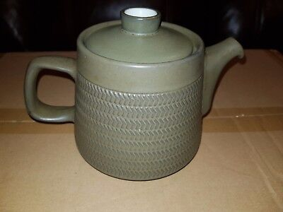 Denby Chevron Tea pot by Gill Pemberton 1960s