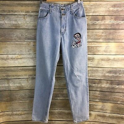 Vintage Betty Boop Mom Jeans Whooz Blooz High Waisted Ligth Wash Size 11/12 M15