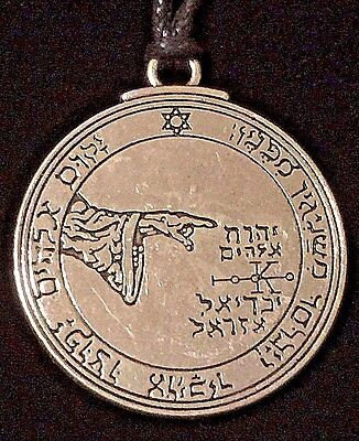 Pentacle Of The Moon Solomon Seal Talisman Hermetic Kabbalah Goetic Amulet w/Bag
