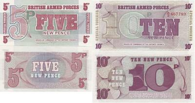 British Armed Forces - 5 + 10 N.Pence 1972 UNC Lemberg-Zp