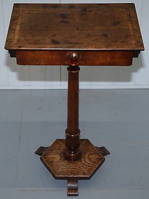 Victorian Mahogany And Elm Wood Side End Sewing Table Stunning Patina Charming