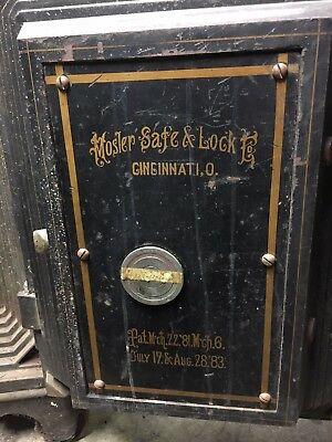 1883 Antique Vintage Safe Mosler Black, With Combination, Heavy Duty Safe