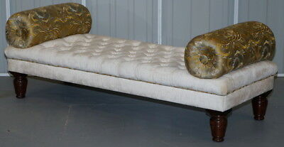 New George Smith Ottoman Stool Bench Rrp £5500 With Paperwork Velvet Silk