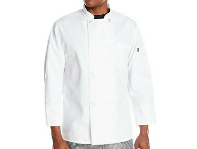 red kap XL chef coat eight pearl and hat