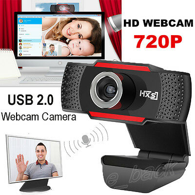 HD 720P Megapixels USB 2.0 Webcam Camera with MIC Clip-on for Computer PC Laptop