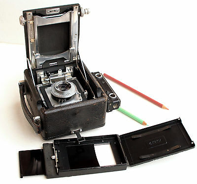 "*c1954* ● Busch PRESSMAN Model C ( 2 ¼ x 3 ¼"" ) Press camera Graftar f4.5 103mm"