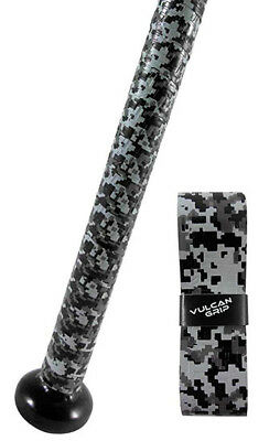 Black & Gray Camo Vulcan Bat Grip Keeps Your Bat From Slipping Out of Your Hands