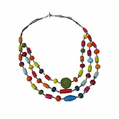 3 Strand Mixed Necklace by Imani Workshop Handmade Fair Trade