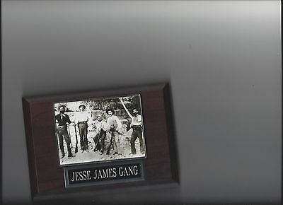 Jesse James Gang Plaque Old West Outlaws Crime Western Photo Plaque