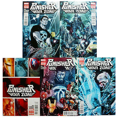 Punisher War Zone #1-5 (2013) Marvel Comics Greg Rucka The Avengers Iron Man