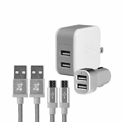 Ubio Labs Certified Lightning cable kit for iPhone/ Apple & for Android, Samsung