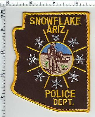 Snowflake Police (Arizona) Shoulder Patch from the 1980's