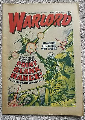 Warlord Comic No. 115 December 4th 1976 Good condition