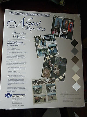 Creative Memories Collection - NEUTRAL PAPER PACK-12sheets/6 Colors-10x12-NEW