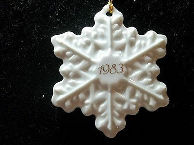 Avon Christmas Remembrance Ornament 1983 Snowflake NEW IN BOX