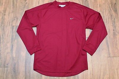 Nike Dri-Fit Long Sleeve Burgundy Jersey Mens Small Excellent Condition