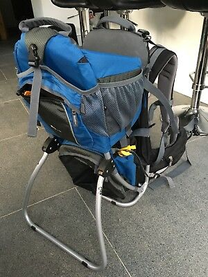 Deuter Kid Comfort II Child carrier with sun and rain covers - blue/grey
