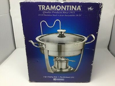 Tramontina 18/10 Stainless Steel 3 Qt Chafing Dish (New)