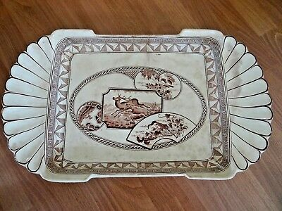 Antique Ice Cream Tray  J. Dimmock & Co. Aesthetic Transfer Ware England Plate