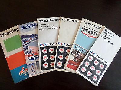 Variety of 6 Travel Maps- Mobil and Standard Oil Late 60's-Early 70's