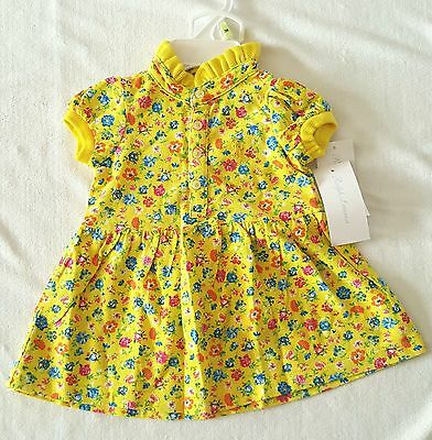 Brand New With Tag Polo Ralph Lauren Baby Girls Yellow Dress Set