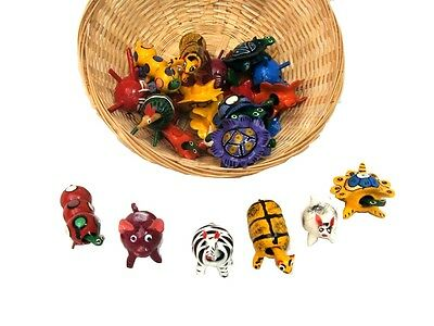 #771 Authentic Bobble Head Mix Mexican Toy Set 12 Assortment Wood Collection PK
