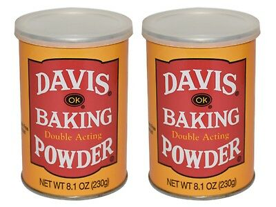 2 X Davis Ok Double Acting Baking Powder 8.1 oz each~US SELLER~FREE SHIPPING