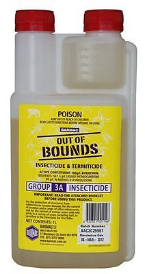 Out of Bounds Bifenthrin 1L Insect Termiticide Barmac Crops Lawn Commercial