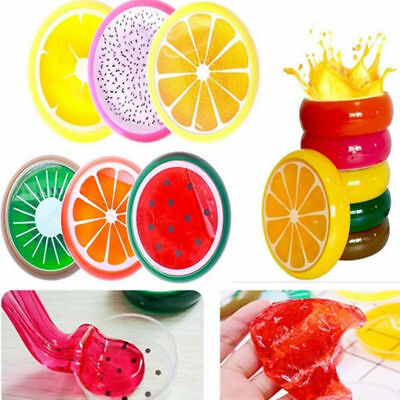 Kids Fruit Crystal Clay Jelly Hand Gum Slime Plasticine Mud Educational Toy