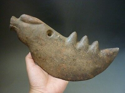 Chinese jade, collection, hand-carved, natural, jade, beast axe C67
