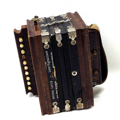 Antique German IMPERIAL LITTLE LORD FAUNTLEROY Button Accordion 1894