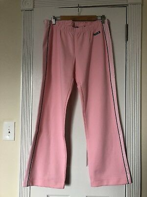 Women's NIKE Pink Track Suit Sweat Athletic Pants Size L 12-14