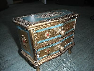 Exquisite & Unique French Gilded Design Antique Box for Trinkets or Jewelry